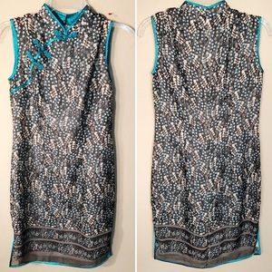 Vintage | Mandarin collar dress